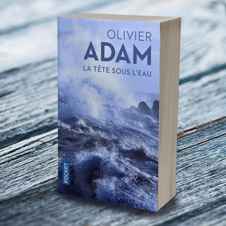 """""""La tête sous l'eau"""" d'Olivier ADAM.  Source : Page officiel Pocket"""