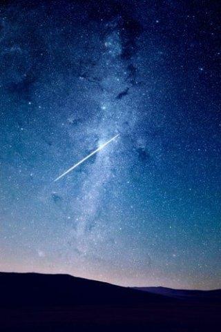 Image montrant une étoile filante.   Photo : Unsplash